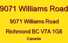 9071 Williams Road 9071 WILLIAMS V7A 1G8