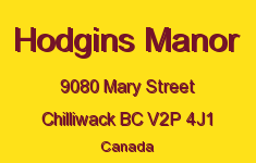 Hodgins Manor 9080 MARY V2P 4J1