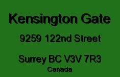 Kensington Gate 9259 122ND V3V 7R3