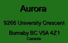 Aurora 9266 UNIVERSITY V5A 4Z1