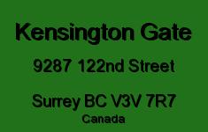 Kensington Gate 9287 122ND V3V 7R7