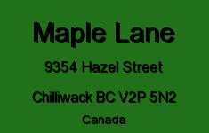 Maple Lane 9354 HAZEL V2P 5N2