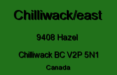 Chilliwack/east 9408 HAZEL V2P 5N1
