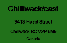 Chilliwack/east 9413 HAZEL V2P 5M9