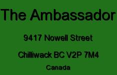 The Ambassador 9417 NOWELL V2P 7M4