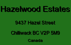 Hazelwood Estates 9437 HAZEL V2P 5M9