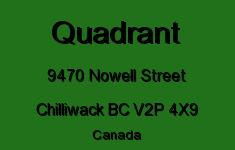 Quadrant 9470 NOWELL V2P 4X9