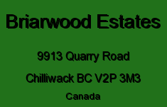 Briarwood Estates 9913 QUARRY V2P 3M3