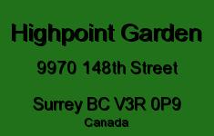 Highpoint Garden 9970 148TH V3R 0P9