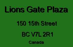 Lions Gate Plaza 150 15TH V7L 2R1