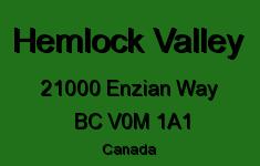 Hemlock Valley 21000 ENZIAN V0M 1A1