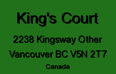 King's Court 2238 KINGSWAY V5N 2T7