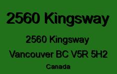 2560 Kingsway 2560 KINGSWAY V5R 5H2