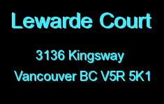 Lewarde Court 3136 KINGSWAY V5R 5K1