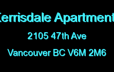 Kerrisdale Apartments 2105 47TH V6M 2M6