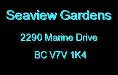 Seaview Gardens 2290 MARINE V7V 1K4