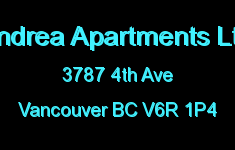 Andrea Apartments Ltd 3787 4TH V6R 1P4