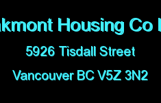 Oakmont Housing Co Ltd 5926 TISDALL V5Z 3N2