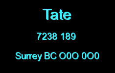 Tate 7238 189 O0O 0O0