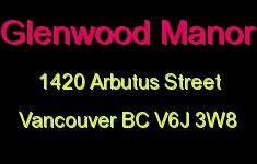 Glenwood Manor 1420 ARBUTUS V6J 3W8