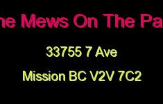 The Mews On The Park 33755 7 V2V 7C2
