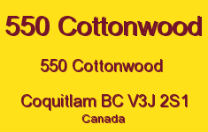 550 Cottonwood 550 COTTONWOOD V3J 2S1