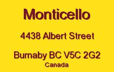 Monticello 4438 ALBERT V5C 2G2