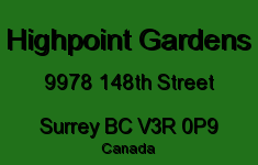 Highpoint Gardens 9978 148TH V3R 0P9