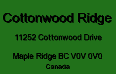 Cottonwood Ridge 11252 COTTONWOOD V0V 0V0