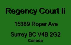 Regency Court Ii 15389 ROPER V4B 2G2