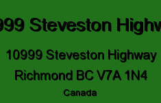 10999 Steveston Highway 10999 STEVESTON V7A 1N4