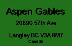 Aspen Gables 20890 57TH V3A 8M7