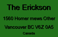 The Erickson 1560 HOMER MEWS V6Z 0A5