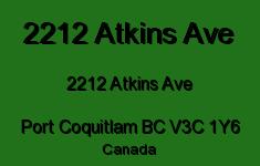 2212 Atkins Ave 2212 ATKINS V3C 1Y6