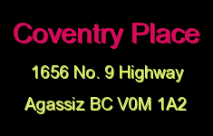 Coventry Place 1656 Agassiz-Rosedale V0M 1A2