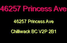 46257 Princess Ave 46257 PRINCESS V2P 2B1