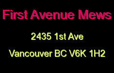 First Avenue Mews 2435 1ST V6K 1H2