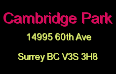 Cambridge Park 14995 60th V3S 3H8