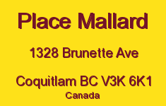 Place Mallard 1328 BRUNETTE V3K 6K1