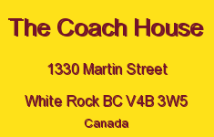 The Coach House 1330 MARTIN V4B 3W5