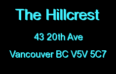The Hillcrest 43 20TH V5V 5C7