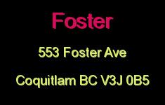 Foster 553 FOSTER V3J 0B5