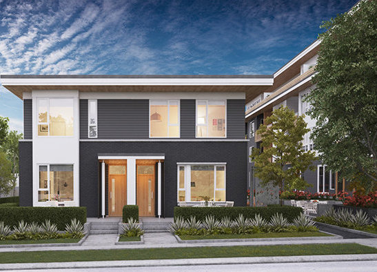 4080 Yukon Street, Vancouver, BC Townhouse Rendering!