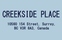 Creekside Place 1 10560 154TH V3R 8A3