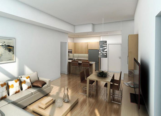 3912 Carey Road, Victoria, BC V8Z 4E3, Canada Interior Rendering Caldecote condominium in White Oak colour scheme!