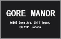 Gore Manor 46165 GORE V2P 1Z9