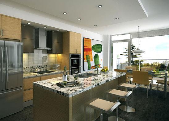 200 Douglas Street, Victoria, BC V8V, Canada Kitchen Rendering!
