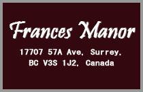 Frances Manor 17707 57A V3S 1J2