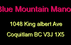 Blue Mountain Manor 1048 KING ALBERT V3J 1X5