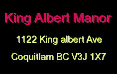 King Albert Manor 1122 KING ALBERT V3J 1X7